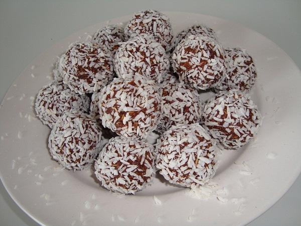 chokladbollar utan smör och socker