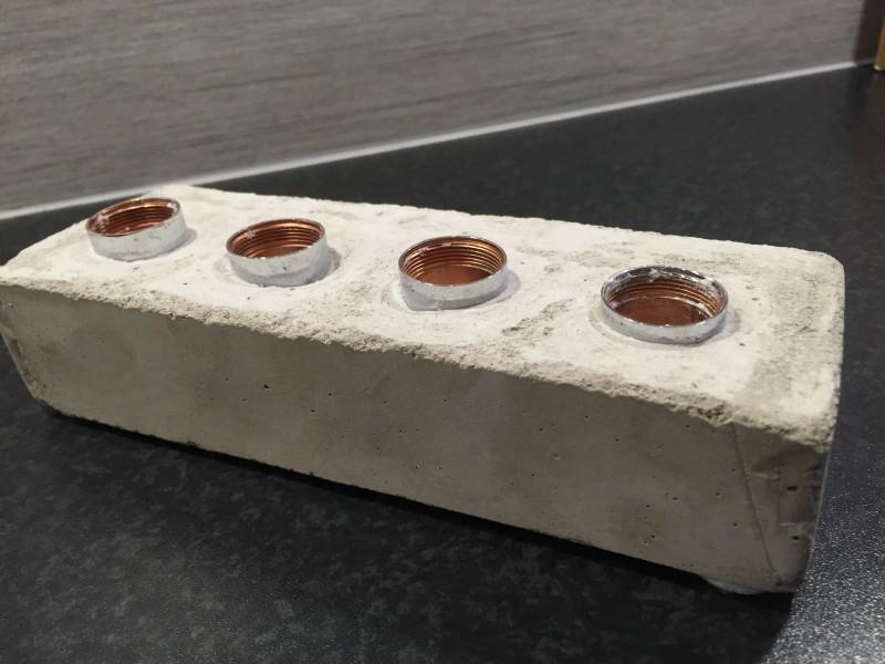 Adventsljusstake i betong